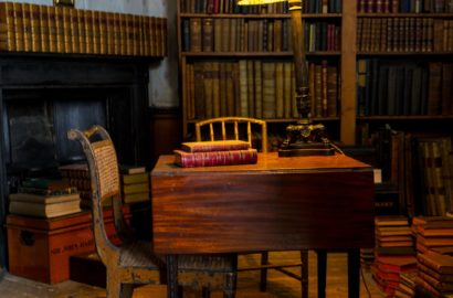 library wood writing desk