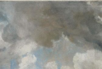painting of dark cloudy sky